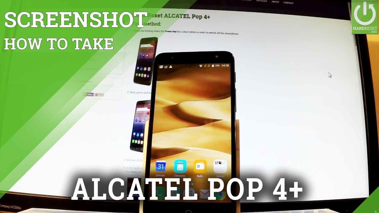 How to Take Screenshot in ALCATEL Pop 4+ - Capture Screen