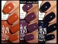 Avon Color Trend Nail Enamels - Skin Gets Tanned, Life Gets Better, Nights Get Funnier