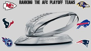 2019 AFC Playoff Team Rankings