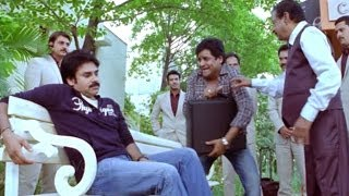 Attarintiki Daredi Comedy Scenes ||  Ali Order To Pawan Kalyan For Cigarette