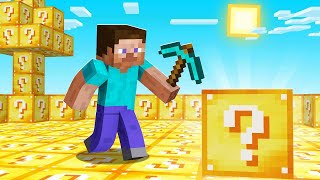 Can YOU SURVIVE In A LUCKY BLOCK Minecraft WORLD! (impossible)