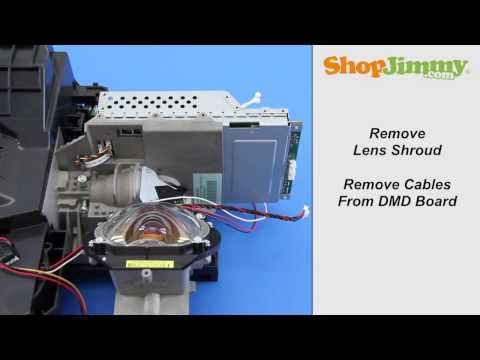Mitsubishi DLP TV Repair – Removing DMD Chip from Light Engine – How to Fix Black & White Dots