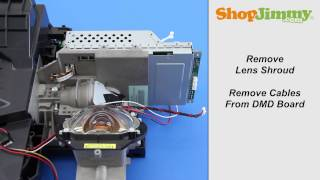 mitsubishi dlp tv repair removing dmd chip from light engine how to fix black white dots