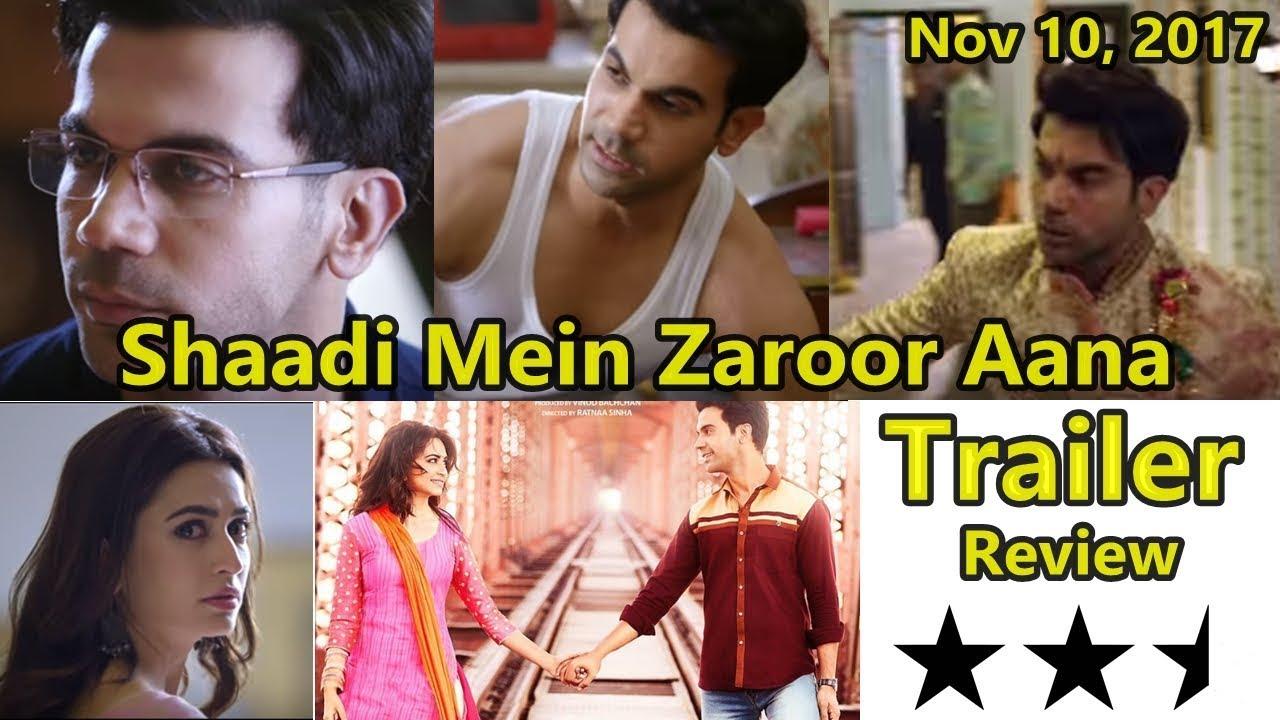 Shaadi Mein Zaroor Aana Official Trailer Review - YouTube
