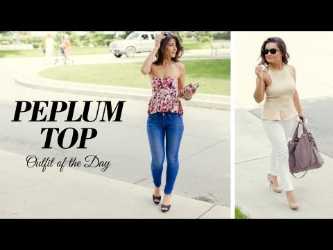 Peplum Top Ootd