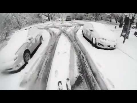 Skiers Take to the Streets of Seattle During Winter Snow Storm