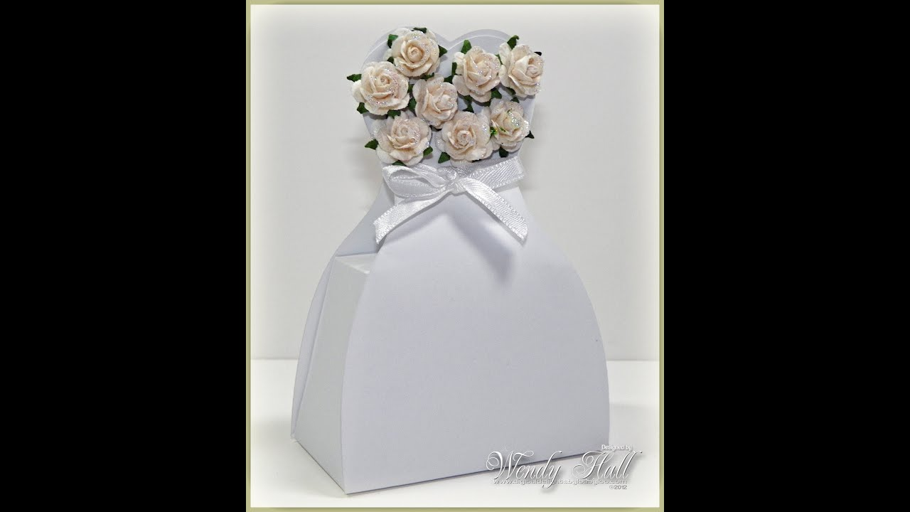 Wedding Dress Favor Box Tutorial - YouTube