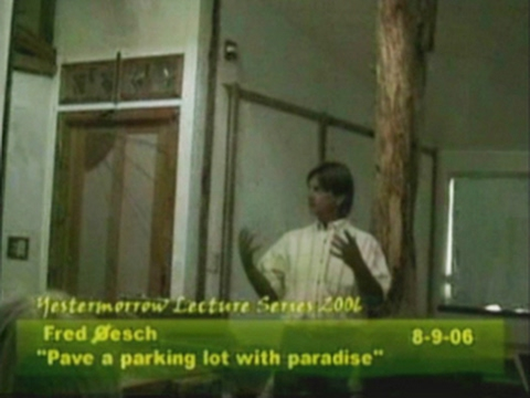 """""""Pave a Parking Lot with Paradise"""" by Fred Oesch"""
