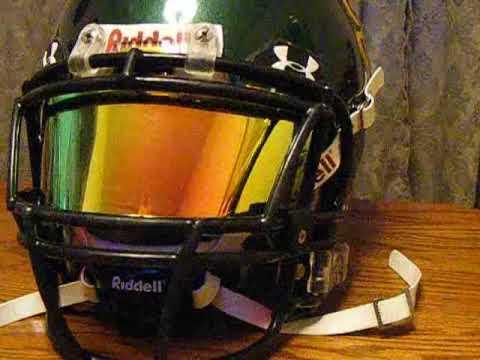 Under armour football visor iridium tint - YouTube ceb2ffa0a8b