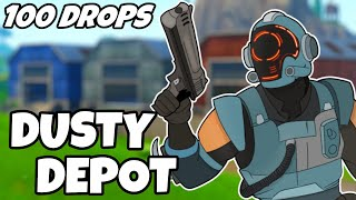 I Dropped Dusty Depot 100 Times And This Is What Happened (Fortnite)