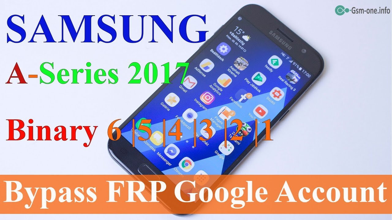 FRP Bypass Google Account SAMSUNG A Series 2017 Binary 6| 5