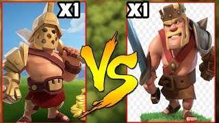 GLADIATOR KING vs BARBARIAN KING Max Level 60 ||Things You Missed in Update Clash Of Clans Apr