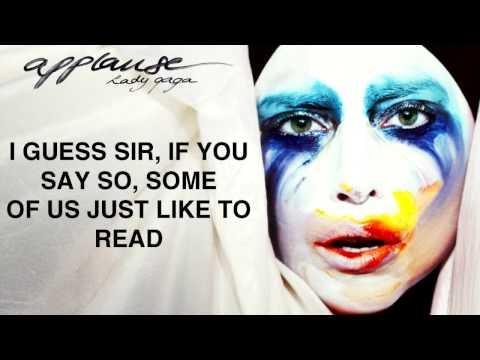 Lady Gaga Applause Lyrics Video [2013 NEW SONG]