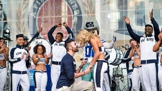 Watch This Dallas Cowboys Dancer Get the Cutest Surprise of Her Life in the Middle of Her Show