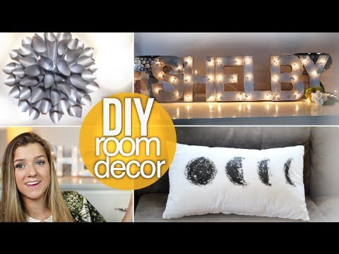 Diy summer room decor cheap cute youtube for Diy room decorations youtube