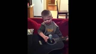 Eli singing Don't You Wanna Stay by Jason Aldean
