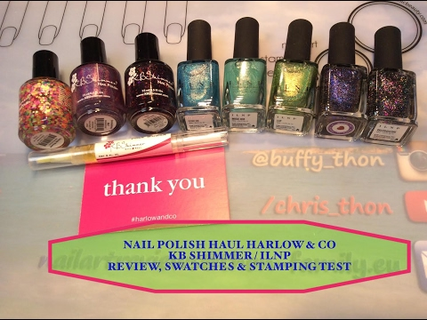 💅🛍️ Nail Polish Haul Harlow & Co: Review, Swatches & StampingTest💅🛍️