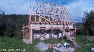 Строительство дома из газобетона 5. Мауэрлат(Краткий обзор постройки