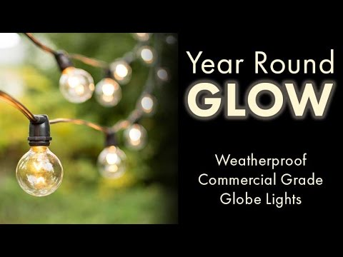 Year Round Glow: Commercial Globe Lights