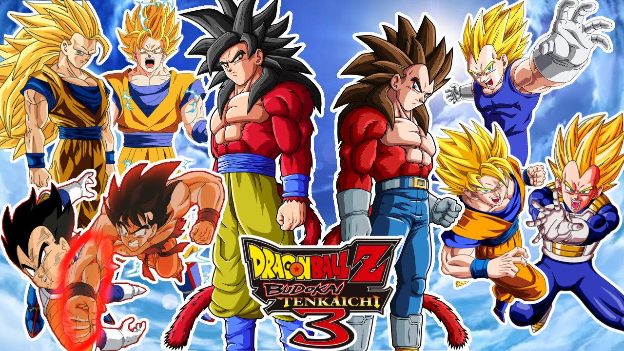 Las 22 Transformaciones De Goku En Dragon Ball: Dragon Ball Z Budokai Tenkaichi 3 : GOKU VS VEGETA ! CON