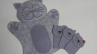 Fantoche e dedoche de gatinho – Artesanato Passo a passo