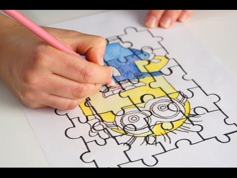 Trasformare Un Disegno In Un Puzzle Da Colorare Youtube