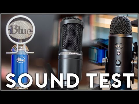 Blue Spark vs Blue Yeti vs Audio Technica AT2020