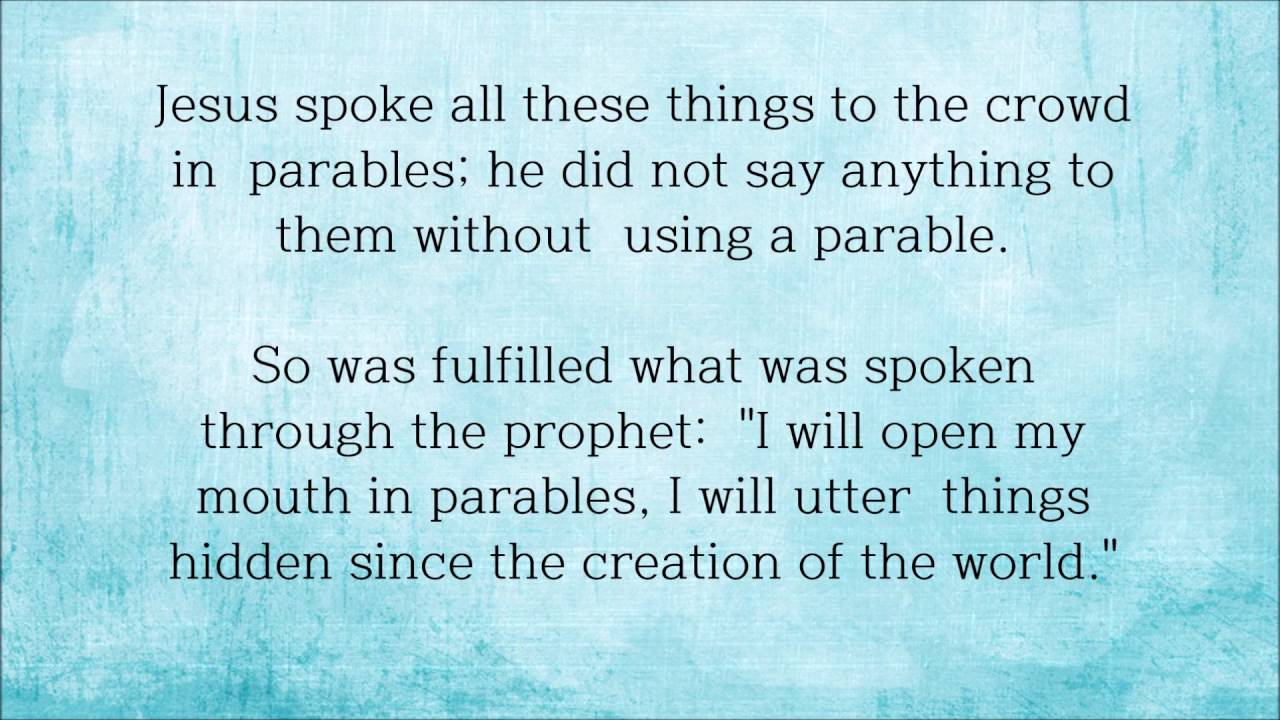 the parables od the mustard seed and the yeast matthew 13 31 35