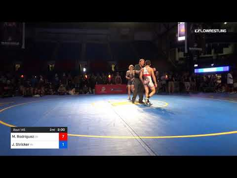 145 Lbs 5th Place Matthew Rodriguez California Vs Jared Stricker Wisconsin