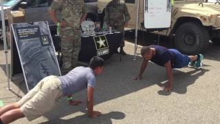 Army Future Soldier vs Active Duty Marine Push up Challenge