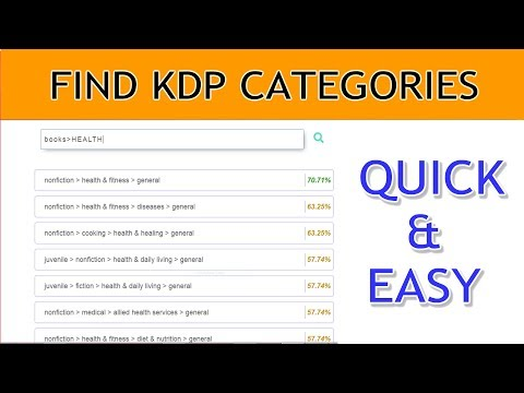 How To Quickly Find KDP Categories For Your Books With KDP Category Browser