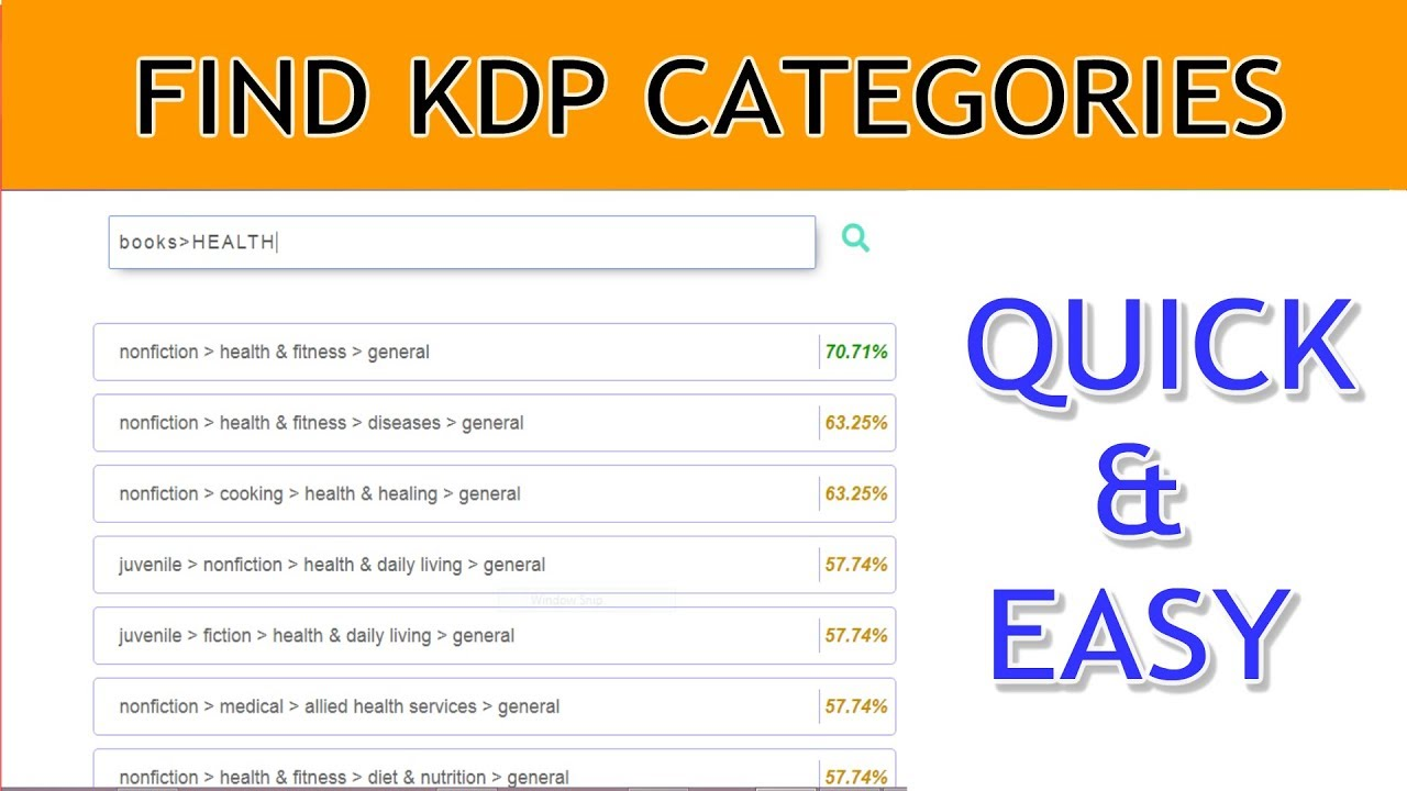 How To Quickly Find Kdp Categories For Your Books With Kdp Category Browser Youtube