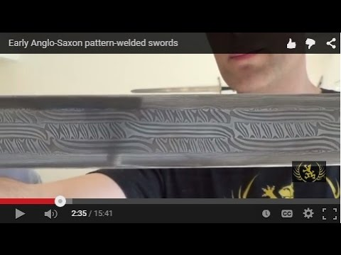 Early Anglo-Saxon pattern-welded swords