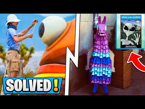 *ALL* Fortnite IRL Solved SECRETS! | UFO Book, Nuclear Site, Llamas! ( Season 5 Durr Burger )