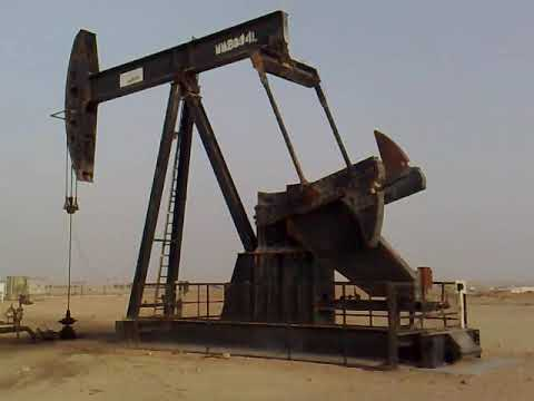 Crude Oil Lifting Pump (Beam Pump) installed at Marmul oil field, Oman (08-07-2008)
