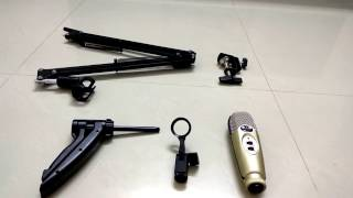 cad u37 usb mic neewer mic stand unboxing setting up review