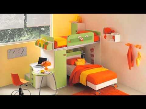 Camere Per Ragazzine : Camerette a ponte per bambini e ragazzi giwa materassi youtube