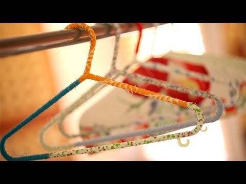 How To Make Wrapped Hangers And Hanger Covers    KIN DIY