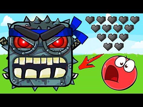 Красный Шар - МЕГА БОСС на уровне ! Игра Red Ball 4 mod 100 square шарик от Спуди !