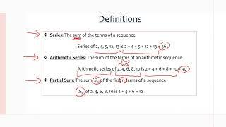 MCR3U/Grade 11 Functions: 7.5 Arithmetic Series