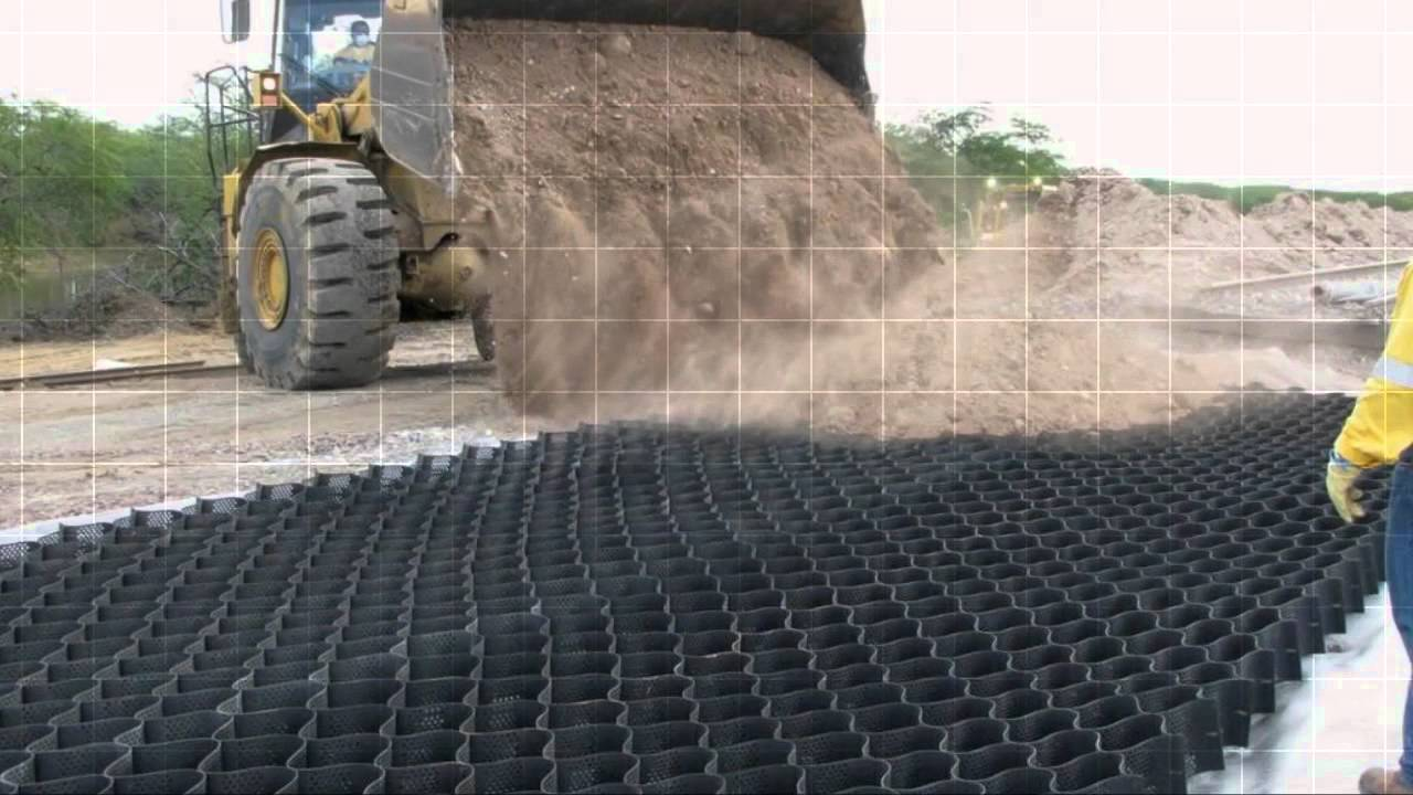 Geoweb 174 Geocell Ballast Reinforcement Youtube