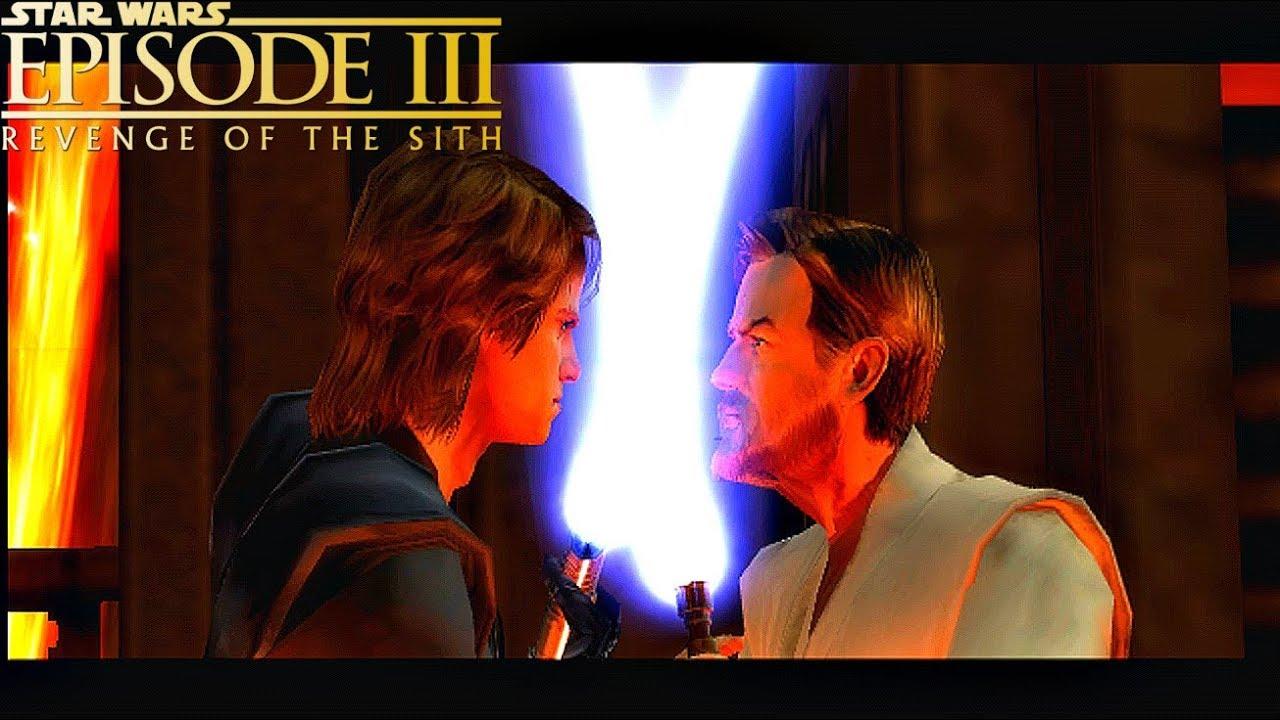 Obi Wan Kenobi Vs Anakin Skywalker Star Wars Episode 3 Revenge Of The Sith The Video Game 2005 Youtube