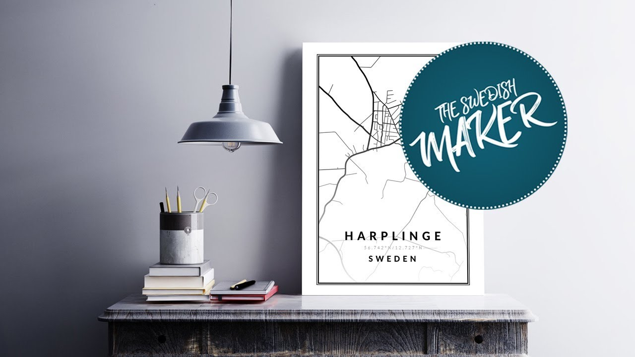 create your own map poster   free photoshop template