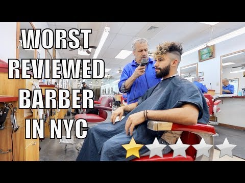 Haircut At The WORST Reviewed Barber in my City (New York City)