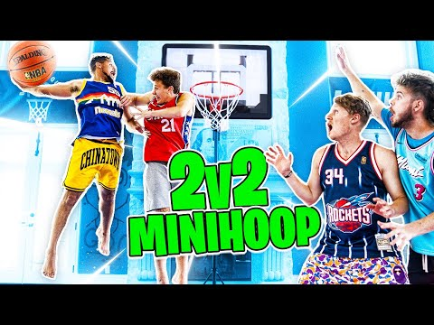 CRAZY DUNKS! 2v2 Mini Hoop Basketball Challenges !! - ZackTTG