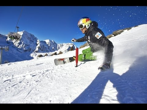 Download Professional alpine snowboarder prepares for the World Cup - Roland Fischnaller