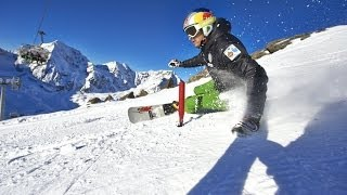 Professional alpine snowboarder prepares for the World Cup - Roland Fischnaller YouTube Videos