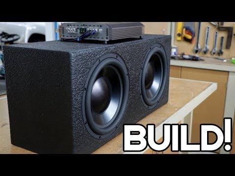 DIY LOUD CAR SUBWOOFER BOX BUILD!