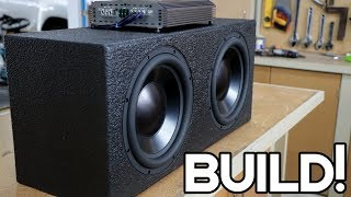 DIY LOUD CAR SUBWOOFER BOX BUILD!