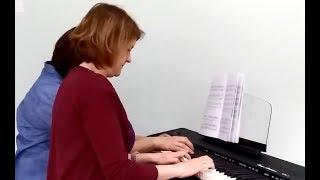 [Ноты фортепиано] начинающим: Вальс и Блюз фортепиано в 4 руки | Музыкальная академия Глория